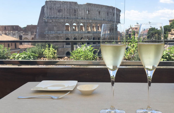 Aroma (1*): lunch with amazing view over the Colosseum