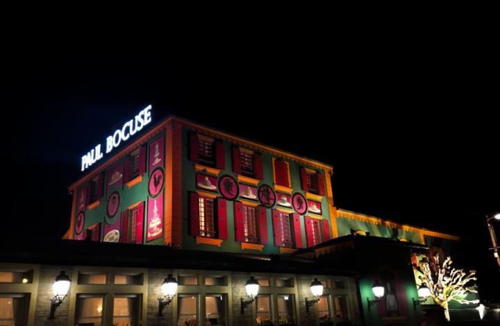 exterior restaurant Paul Bocuse 3 stele Michelin