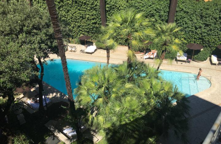 Aldrovandi Villa Borghese pool view